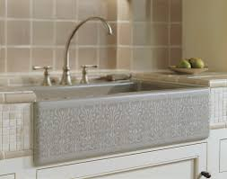 Apron Sink With Backsplash by Farmers Sink Ann Merie Cottage Kitchen Ideas With White Top
