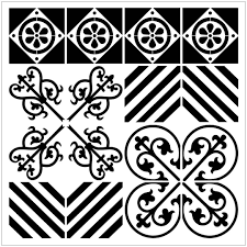 64 Best Moroccan Stencil And by Reusable Laser Cut Large Floor Or Wall Tile Stencil 18 Fits 14x14