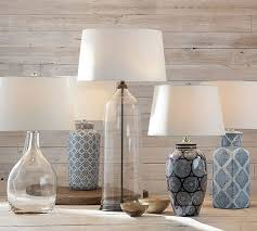 Pottery Barn Dahlia Chandelier Blue And White Ceramic Lamps White Ceramics Barn And Drum Shade