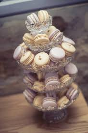 wedding oats vintage wedding macaron tower on stacked glass cake stands two