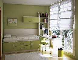 bedroom simple and neat pale green theme kids room decoration