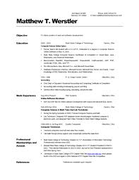 computer science resume template model resume for lecturer sle of a computer science