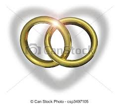 linked wedding rings linked wedding rings heart shadow stock illustrations
