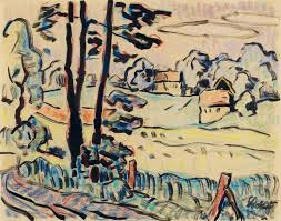 Landscape With Houses by Karl Schmidt Rottluff U2013 Buy Art And Sell Art U2013 Lempertz
