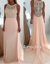 light pink graduation dresses a line round neck light pink long prom dresses graduation dresses
