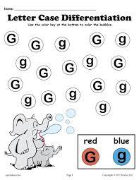 free letter g do a dot printables for letter case differentiation