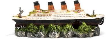 aqua della shipwreck titanic aquarium decoration 37 5 x 10 x 14 7