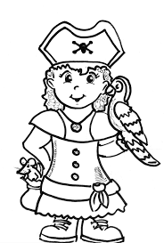 pirate coloring pages printable pirate parrot colouring dora