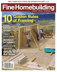 Woodworking Magazine Canada by Magazine Fine Homebuilding