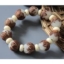 bangle bracelet beads images White bodhi seed tibetan buddhist prayer beads carve lotus mala jpg