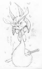 squirrel samurai sketch by kuma team on deviantart