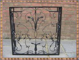 wrought iron fireplace screens home decorations ideas