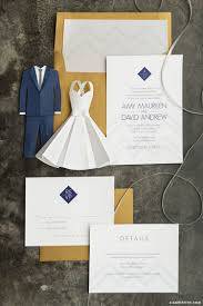 modern wedding invitation suite lia griffith
