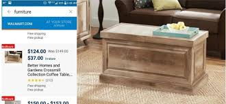 better homes and gardens crossmill coffee table better homes gardens crossmill coffee table only 37 coupons