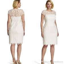 2017 summer ivory lace mother bride dresses knee length jewel neck