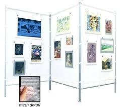 display art wall art display systems aluminum display wall three 4 ft times 7