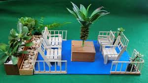 miniature backyard seating crafts ideas how to youtube