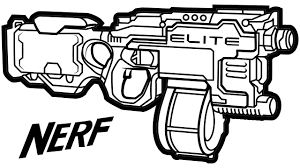 nerf n strike elite hyperfire blaster learning coloring pages