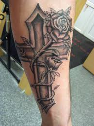 cross with roses tattoos tattoo collection