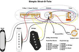 simple strat o tele for tele wiring diagram guitars