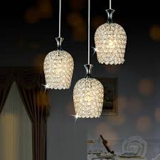 Lighting For Kitchen Islands Dinggu Modern 3 Lights Crystal Pendant Lighting For Kitchen