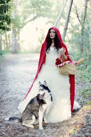 little red riding hood halloween costume toddler little red riding hood with the wolf bride photo how cute this