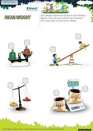 mean weight math worksheet for grade 1 free u0026 printable worksheets