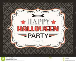 halloween party background happy halloween party card typography letters stock vector