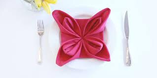 how to fold a flower napkin