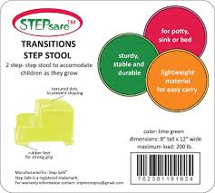 amazon com stepsafe step stool 2 step for kids and adults non