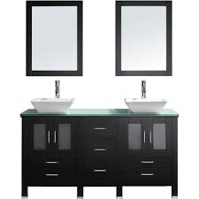 virtu usa bradford 60 in double basin vanity in espresso with