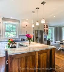 Country Kitchens With White Cabinets by White Country Kitchen Remodel With Marble Backsplash