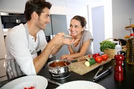 amour dans la cuisine en amour on aime partager