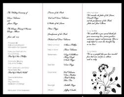 printed programs wedding printed programs all about wedding