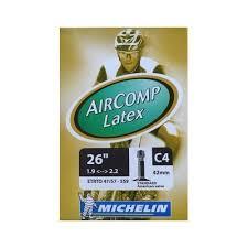 chambre a air vtt 26 michelin aircomp c4 vtt chambre à air valve schrader 42