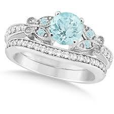 Gold Diamond Wedding Rings by Best 25 Aquamarine Engagement Rings Ideas On Pinterest