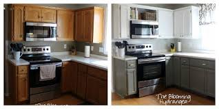 kitchen cabinets painted gray from oak to awesome painted gray and white kitchen cabinets hometalk