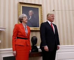 trump theresa may affirm special relationship between united