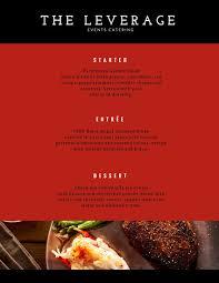 dinner party menu templates canva