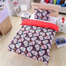 3d Print Bed Sheets Online India Online Buy Wholesale Skull Print Bedding From China Skull Print
