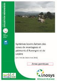 chambre d agriculture d auvergne systèmes bovins laitiers des zones de montagnes et piémonts d
