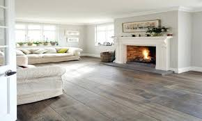 dark wood floor soft grey blue walls love the simplicity and