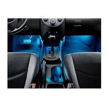Car Interior Leds Interior Led Car Lights Blue 4 Piece Flexible Strip Lights Inside