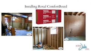 how to install roxul comfortboard insulation to insulate a