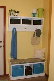storage bench with cushion and baskets cushions decoration