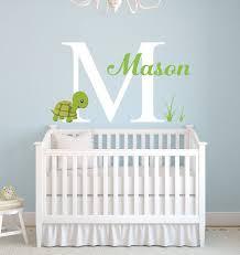Turtle Nursery Decor Custom Name Wall Decal Turtle Wall Decal Monogram Baby Room