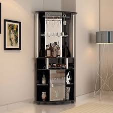 Furniture Wine Bar Cabinet Corner Liquor Cabinet Home Pub Bar Furniture Wine Bottle Storage