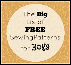 sewing pattern ninja costume big list of free sewing patterns for boys