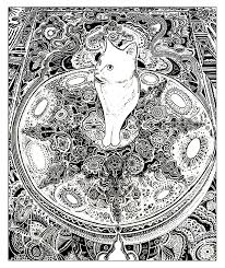 Animaux chat tapis  Chats  Coloriages difficiles pour adultes