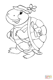 turtle traveller coloring free printable coloring pages